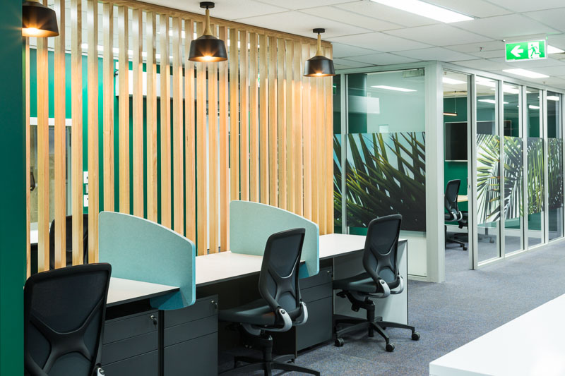 Office interior fitout in Cairns Remote Youth Justice Services building, Cairns