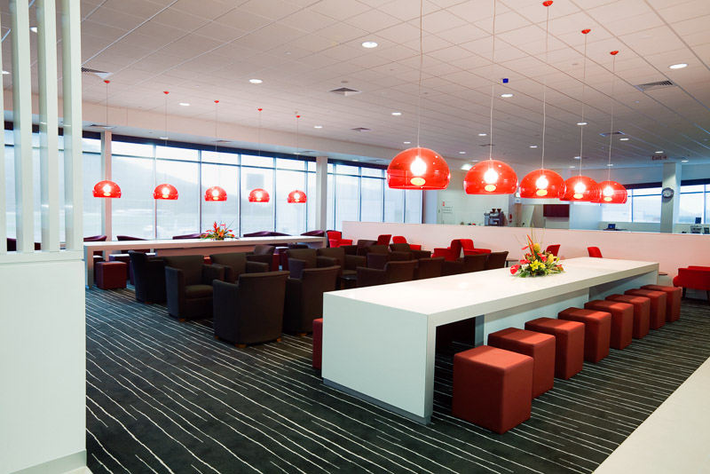 Interior image of Qantas Lounge at Cairns Domestic Airport