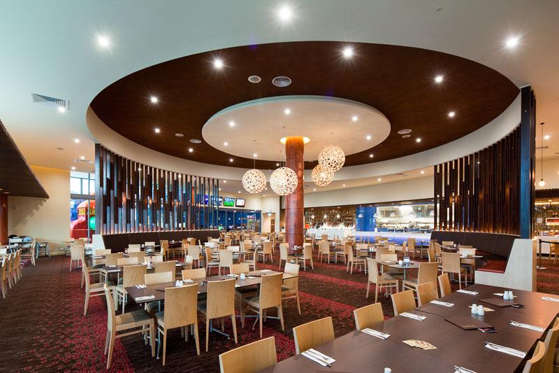 Restaurant interior in Cazalys Club, Cairns