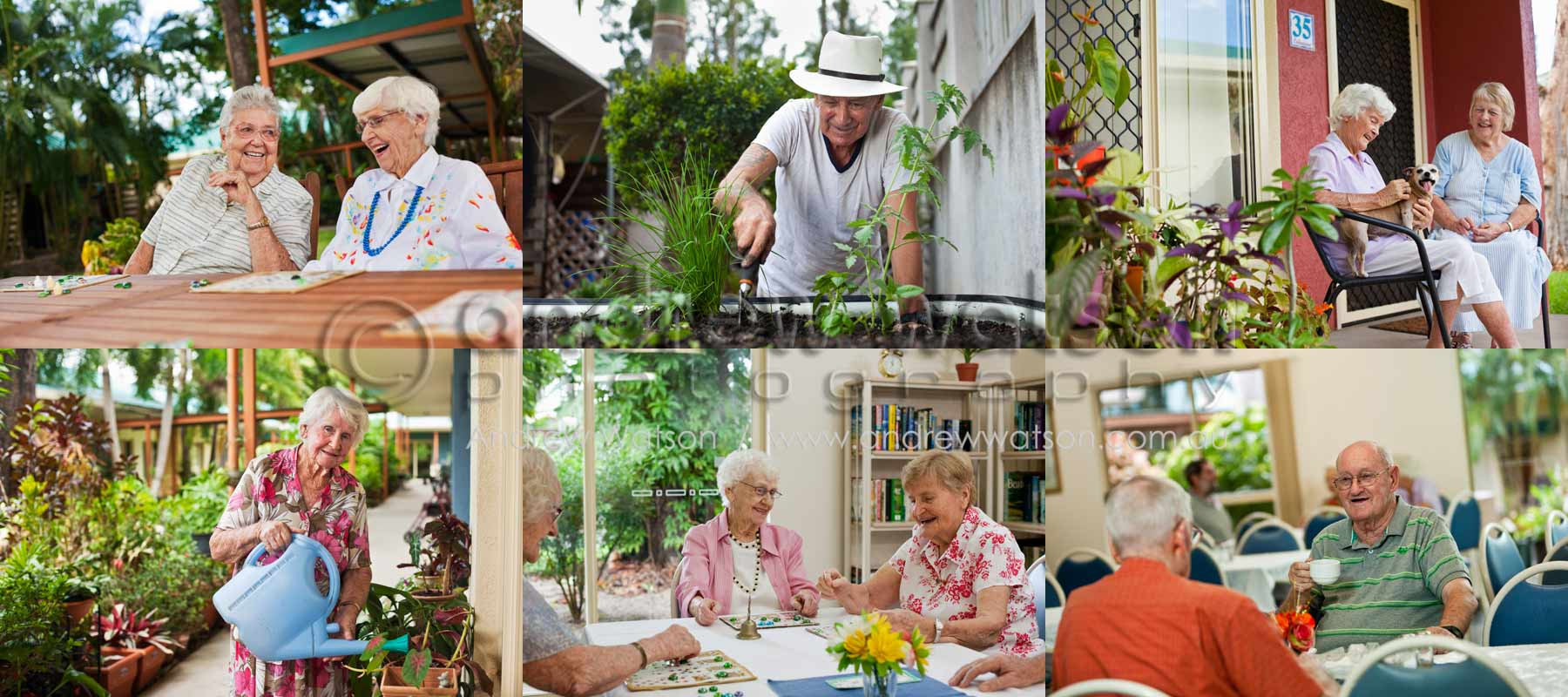 Lifestyle Photography - Images of retirement village residents