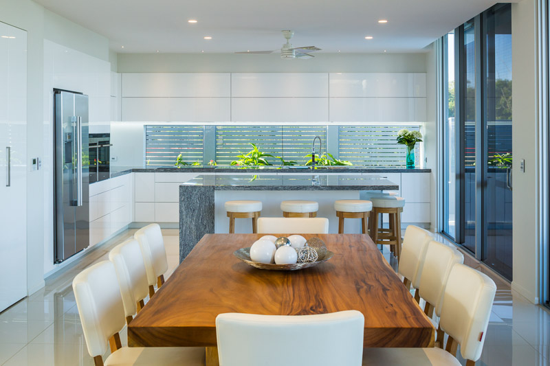 Kitchen and dining areas in residential home, Cairns