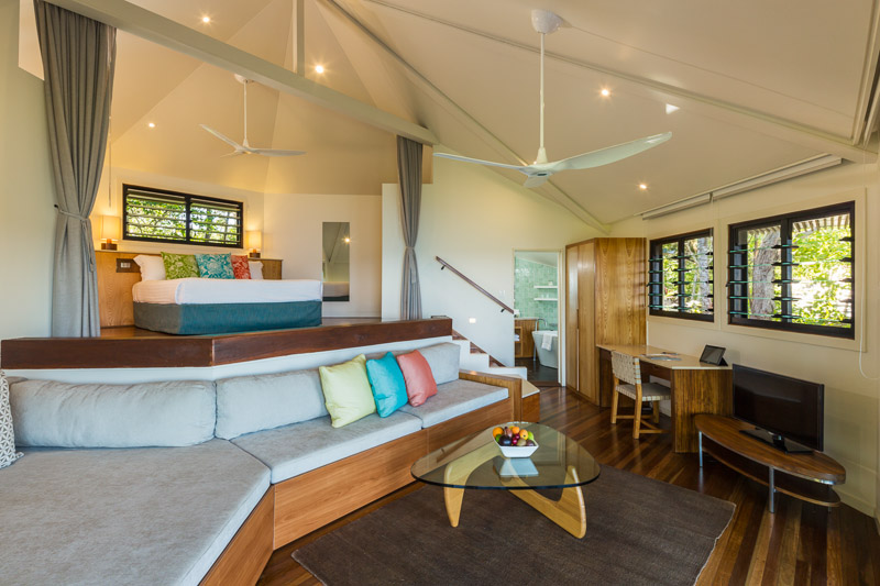 Interior of luxury villa at Bedarra Island Resort