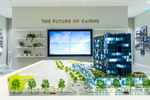Development model and tnterior of the Nova City display suite in Cairns