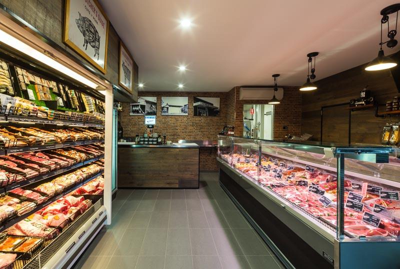 Interior of butcher store at Edge Hill Butchery in Cairns