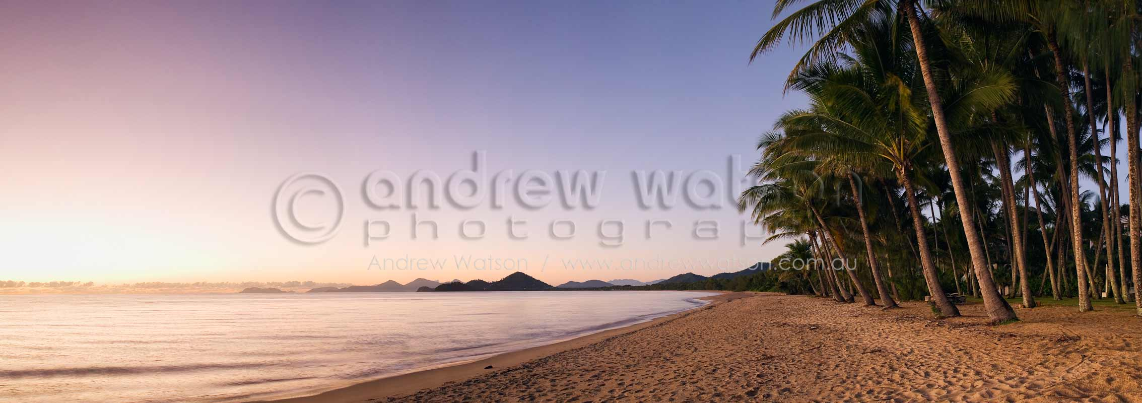 View along Palm Cove beach at dawnPalm Cove, North QueenslandImage available for licensing or as a fine-art print... please enquire