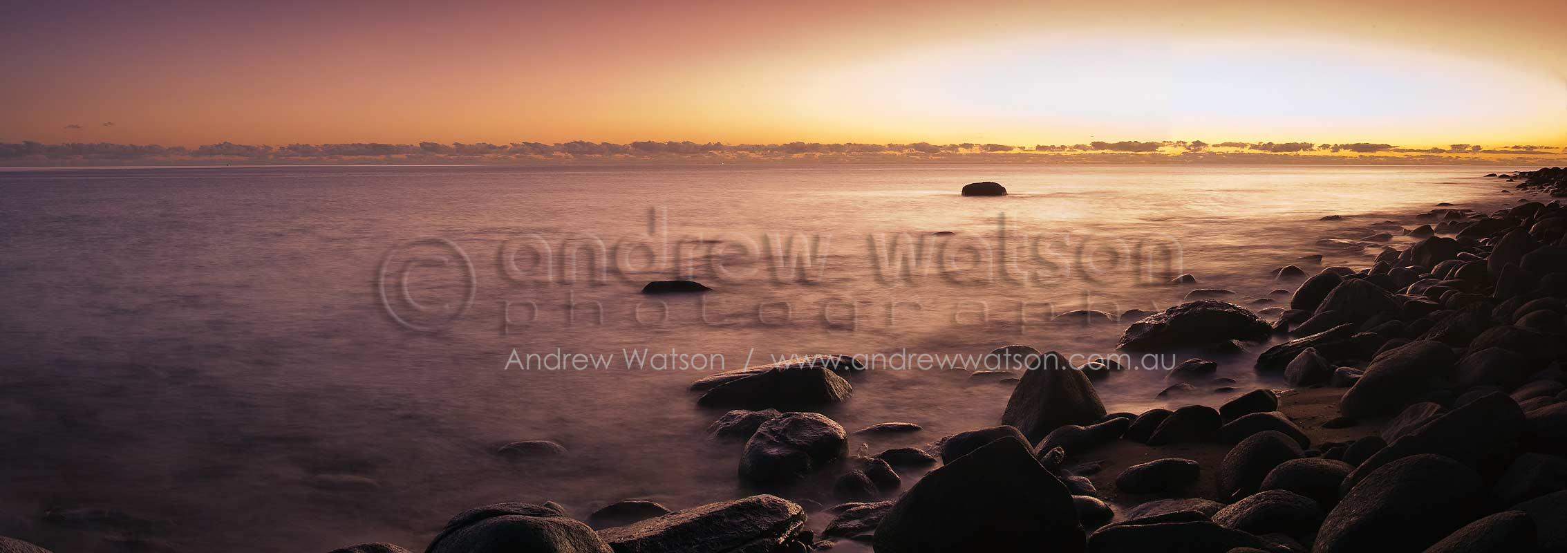 Sunrise over the Coral Sea at Pebbly BeachCairns, North QueenslandImage available for licensing or as a fine-art print... please enquire