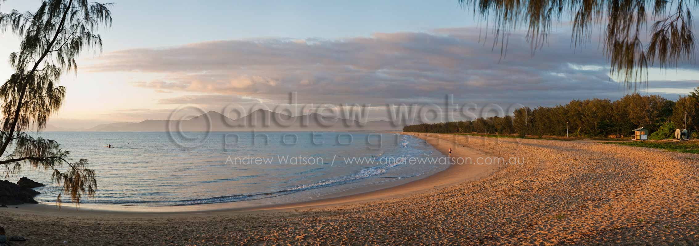 View along Yorkeys Knob Beach at dawnCairns, North QueenslandImage available for licensing or as a fine-art print... please enquire