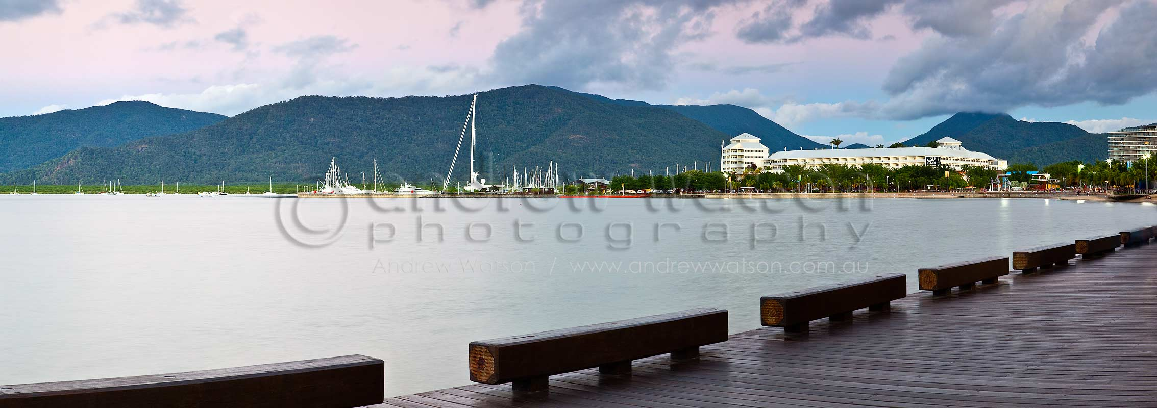 View along Esplanade Boardwalk to The PierCairns, North QueenslandImage available for licensing or as a fine-art print... please enquire
