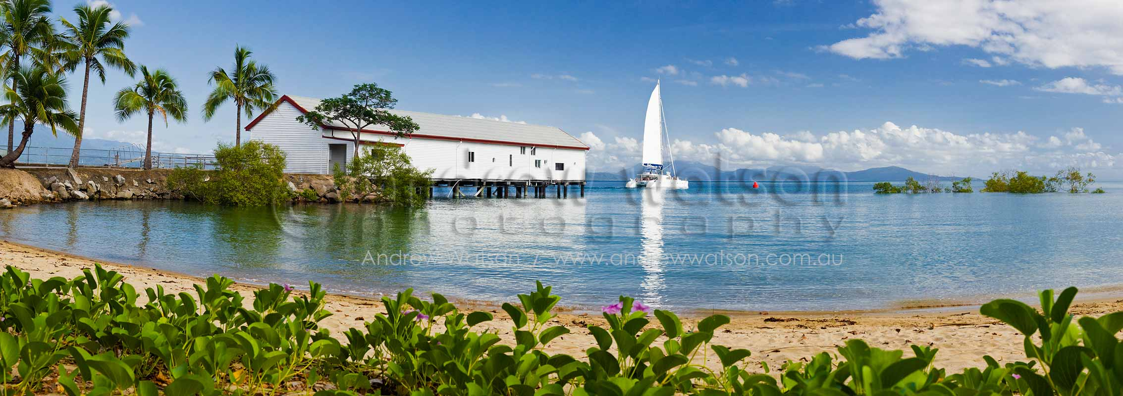 Sailboat passing Sugar WharfPort Douglas, North QueenslandImage available for licensing or as a fine-art print... please enquire