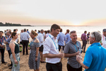 Conference delegates networking on Mindil Beach at sunset, Darwin