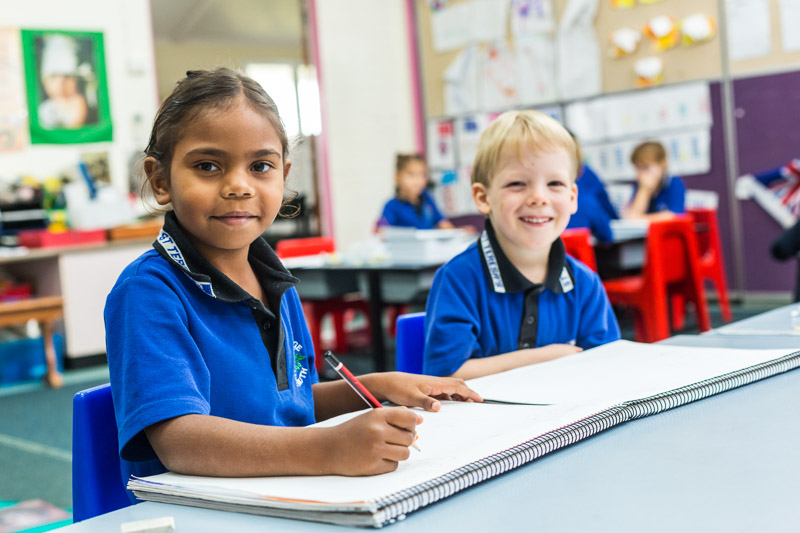 Portrait of indigenous student learning in the classroom