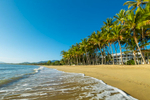 View along tropical beach at Alamanda Resort Palm Cove