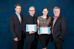 Group photos of award winners at Ausure 2012 Conference Awards Night in Cairns