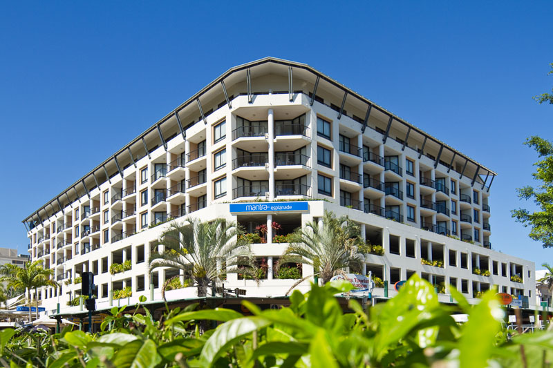 View of the Mantra Esplanade hotel in Cairns