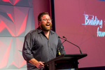 Shane Jacobson MCing at Bridgestone 2016 Family Channel Conference, Port Douglas