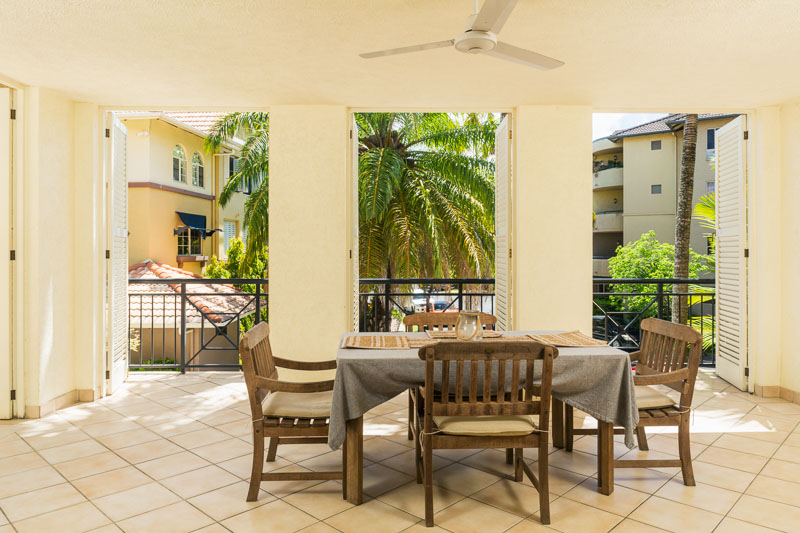 Outdoor terrace in apartment, Cairns