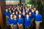 Team shot of Tourism & Events Queensland staff at 2014 Australian Tourism Exchange in Cairns