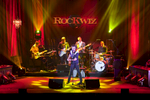 Band playing on stage at RockWiz Event, Cairns