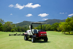 A maintenance sprayer on the Paradise Palms Golf Course, near Cairns for a product photography shoot