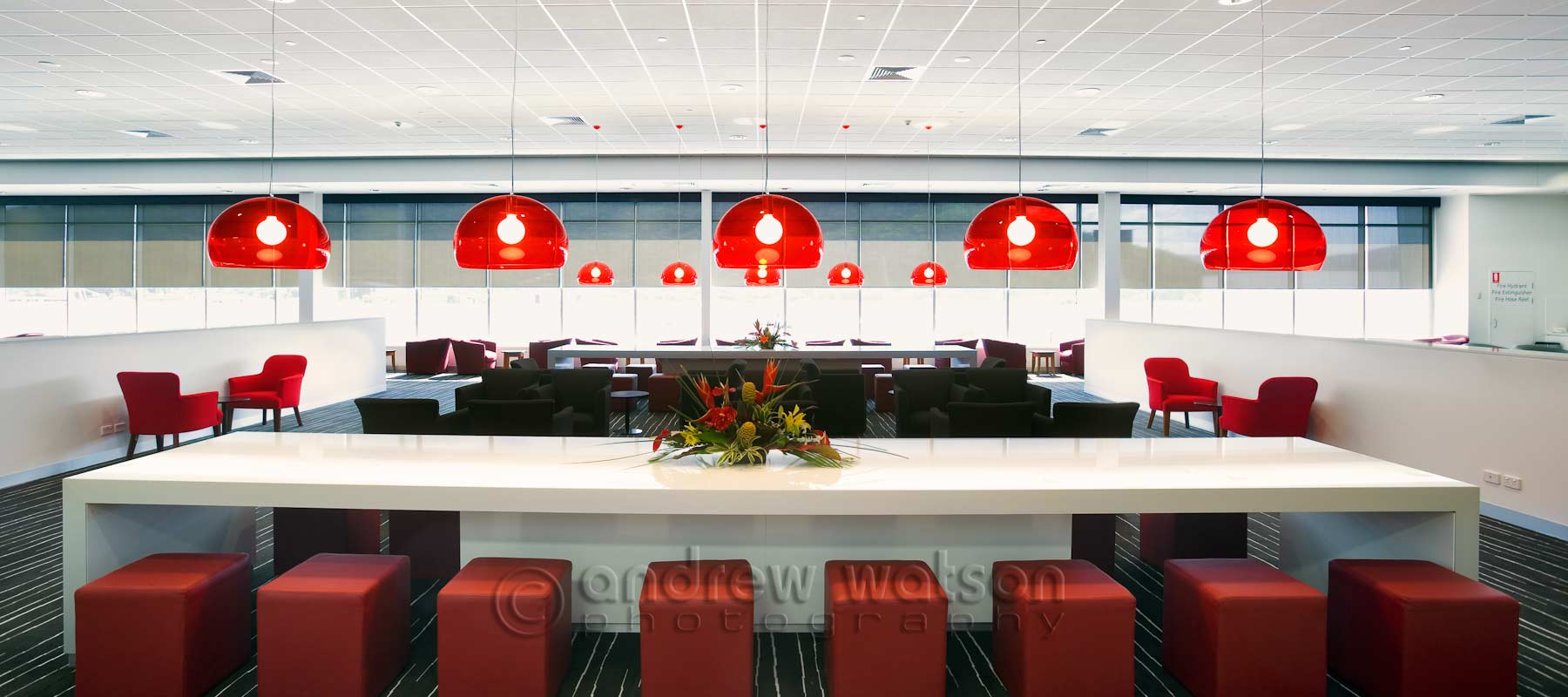 Interiors photography - Qantas Club lounge at Cairns Airport