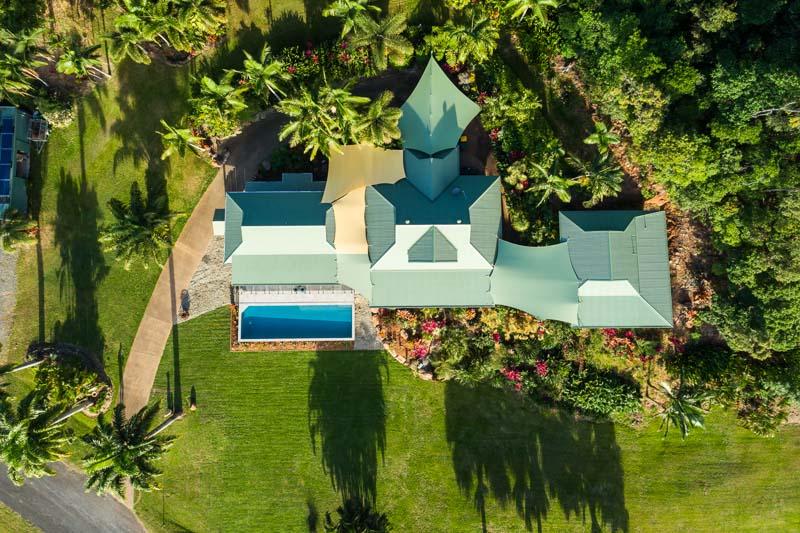 Aerial view of residential home at Killaloe, Port Douglas