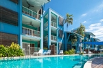 Resort rooms by the pool at Mantra Aqueous, Port Douglas