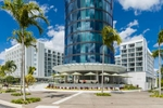 Exterior image of Riley Hotel tower on the Esplanade, Cairns