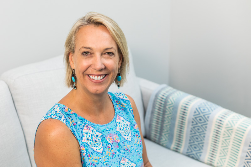 Business headshot of female psychologist with office background, Cairns