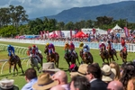 Spectators watching horse racing at Cairns Amateurs Carnival 2015