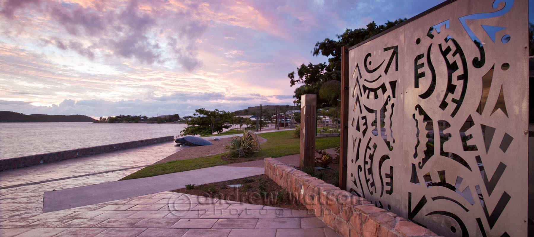 Landscape architecture photography - Esplanade foreshore on Thursday Island, Torres Strait