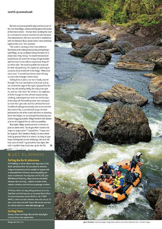 Travel Photography - Heli rafting trip on the North Johnstone River, writing and photography for Get Lost! Magazine.