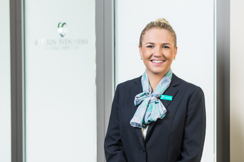 Portrait female funeral service business staff in Cairns