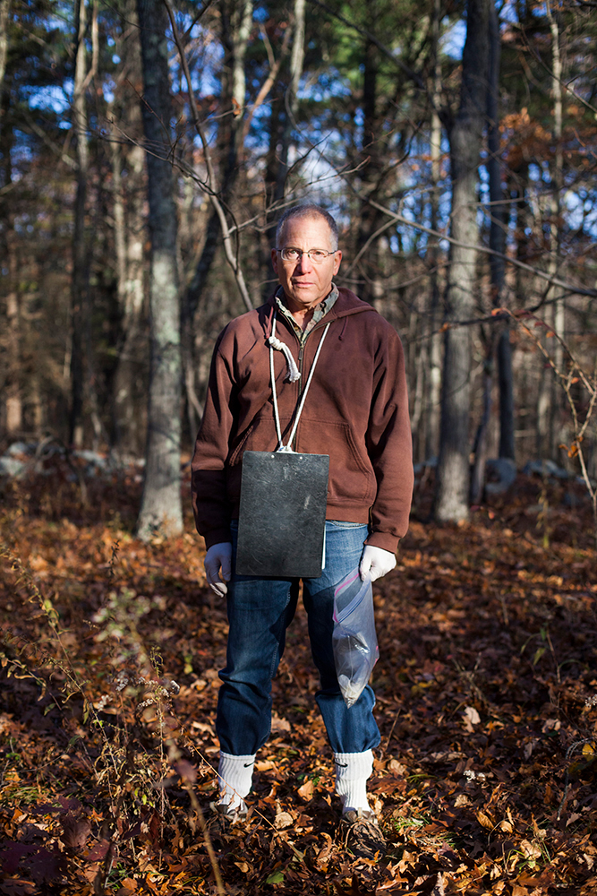 Dr. Richard S. Ostfeld  on the grounds of the Cary Institute of Ecosystem Studies in Millbrook, New York on November 4, 2016. Photo by Stephen Reiss for NPR.