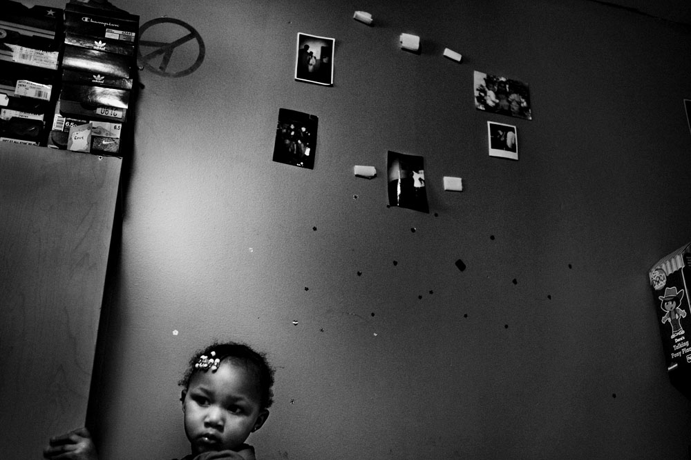 SOUTH BRONX, NEW YORK - FEB 25: Foster child Cherish Sterling, 2 years old, plays in her bedroom February 25, 2009.