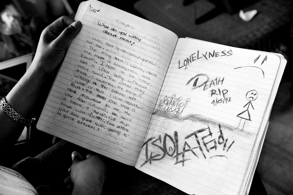 SOUTH BRONX, NEW YORK - APR 26:  The diary of 16-year-old foster child Daybelis Ramirez April 26, 2009.