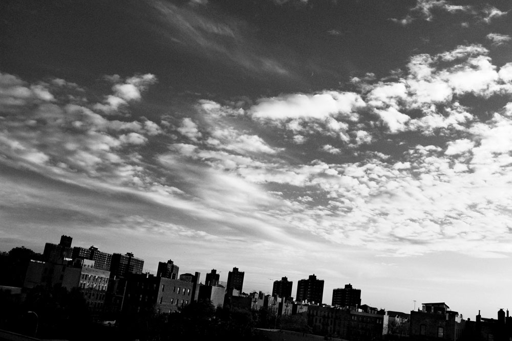 SOUTH BRONX, NEW YORK - NOV 10: The skyline with housing projects in the South Bronx November 10, 2010.