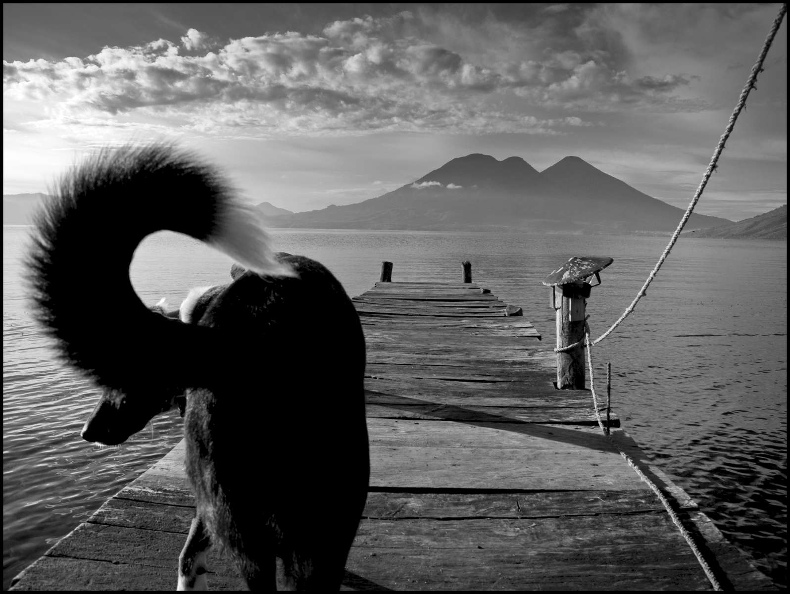 Bruno's tail, Lake Atitlán, Guatemala