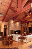 Interior living room of custom designed home by Pavelchak Architecture in Grandfather Golf and Country Club in Linville, North Carolina, near Boone.