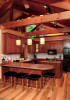 Kitchen of custom designed home by Pavelchak Architecture in Grandfather Golf and Country Club in Linville, North Carolina, near Boone.
