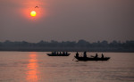Early morning on the Ganges in Varanasi