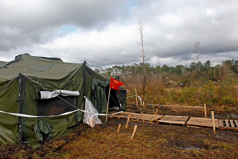 The Bravo Battery Headquarters tent.