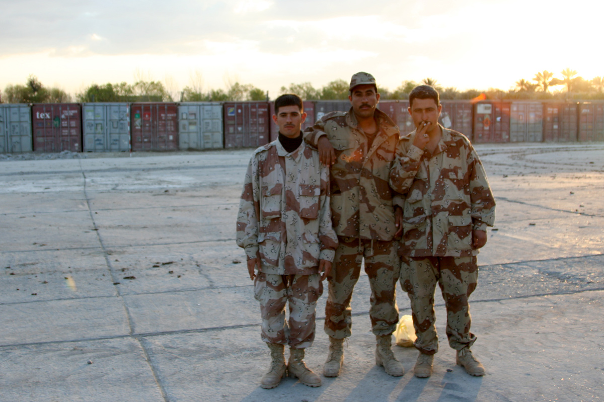 The Iraqi Army soldiers always loved posing for photos.