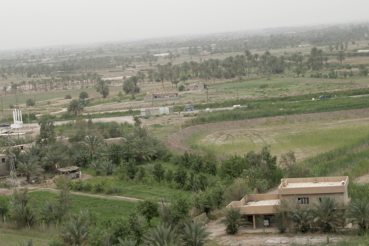 The Yusufiyah area was characterized by lush green and fertile farm land.