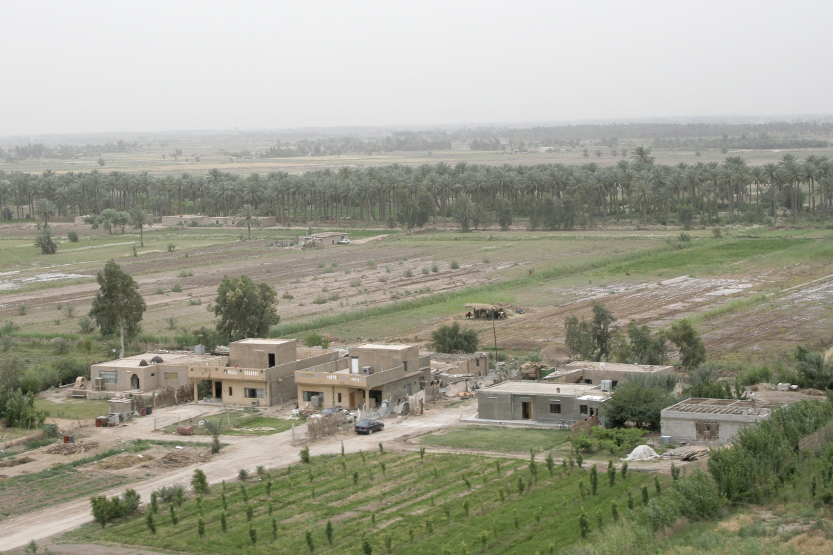 Another characteristic of the Yusufiyah area was large houses.  Many of the residents were Baath party members, which was the ruling party during the Saddam Hussein-era government.