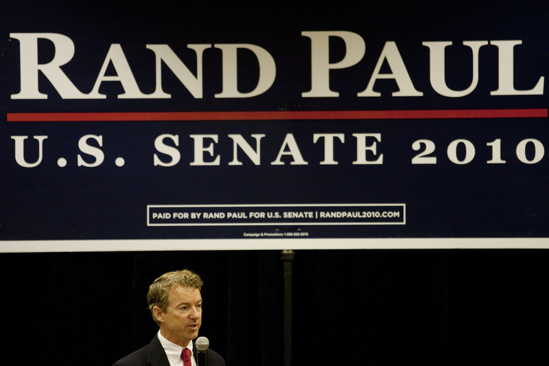 Rand Paul speaks at a rally in Erlanger, Ky. on Oct. 2, 2010.  Paul is a Tea Party member running under the Republican ticket for U.S. Senate.