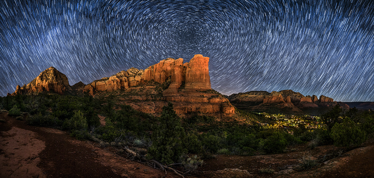 Star trails over Sedona
