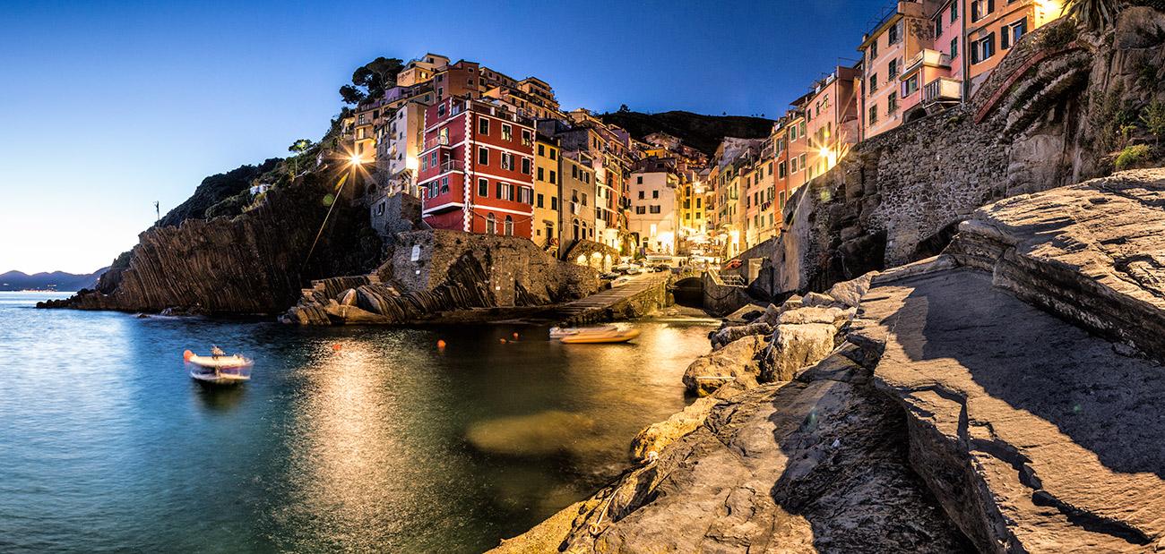 Riomaggiore in the Cinque Terre, Italy