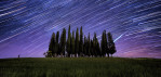 Star trails over Tuscany