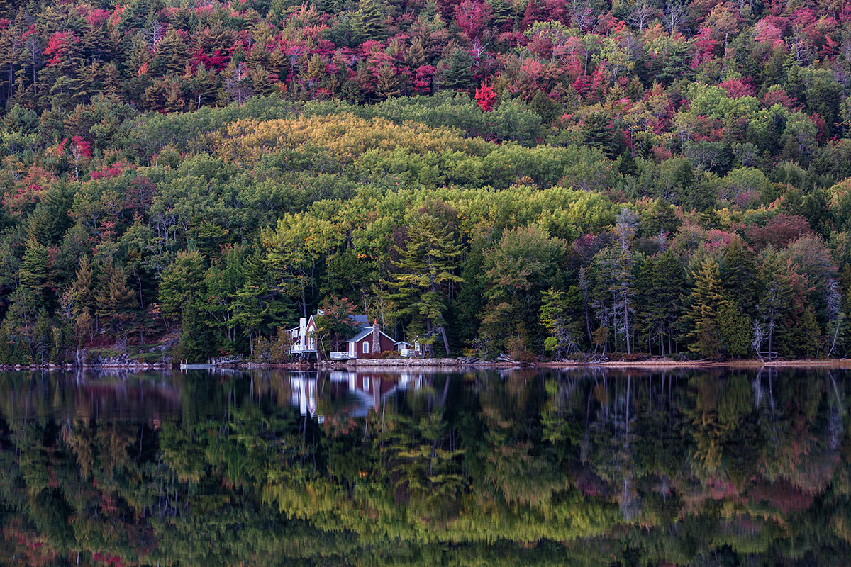 Long Pond during the fall