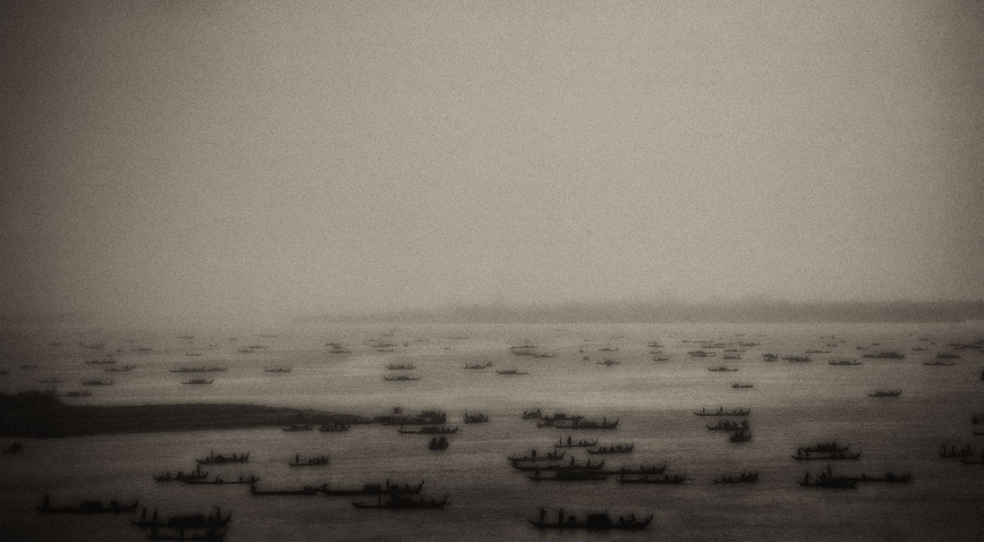 Sea of boats on the Mekong
